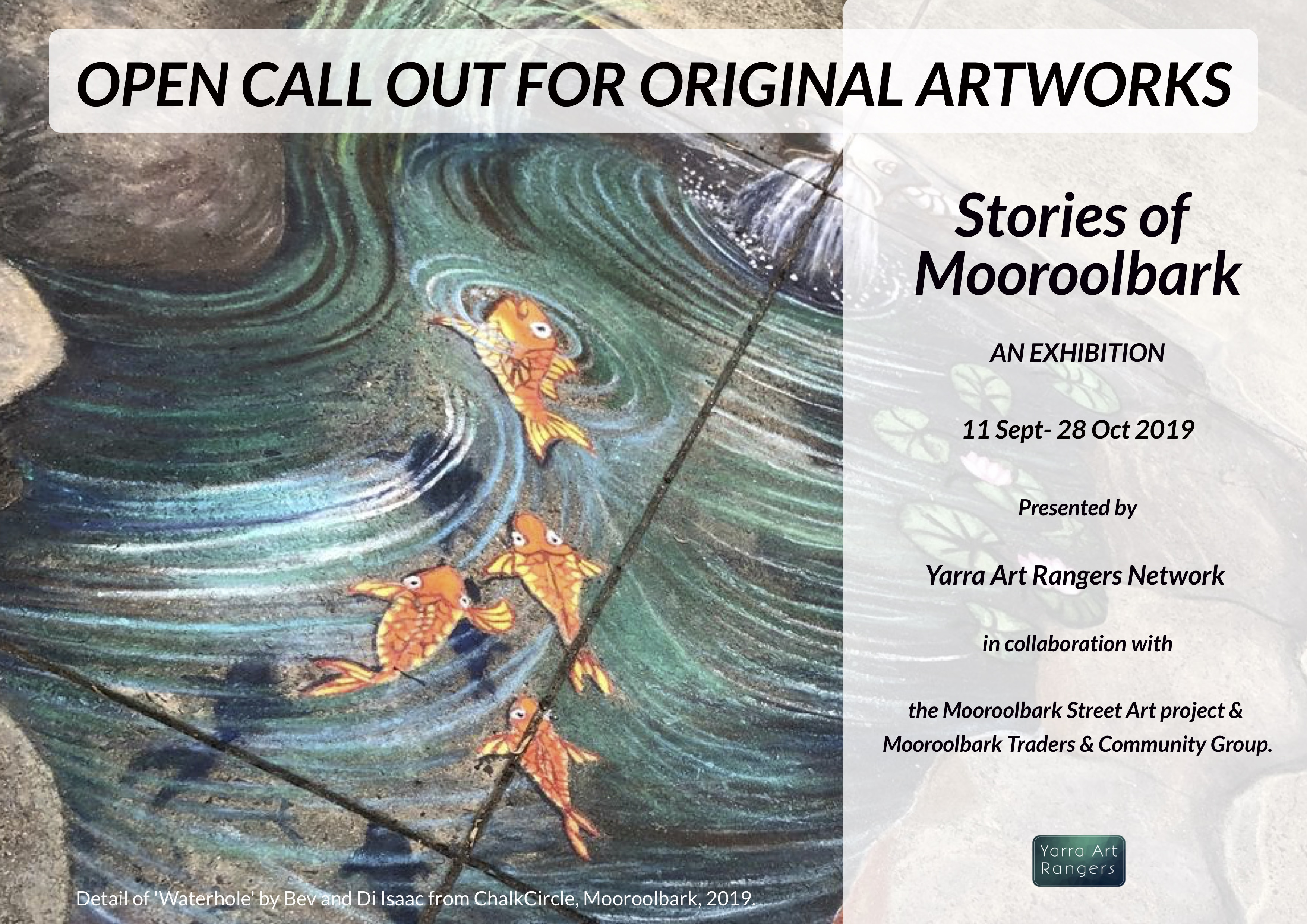 Stories of Mooroolbark exhibition callout - artwork by ChalkCircle